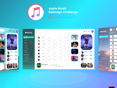 Apple Music Web Design artist challenge redesign music player skyblue blue mockup apple music music app music color logo web design app website ui ux