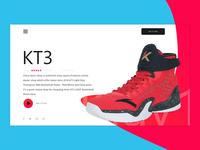 KT3 Shoes Concept Klay Thompson