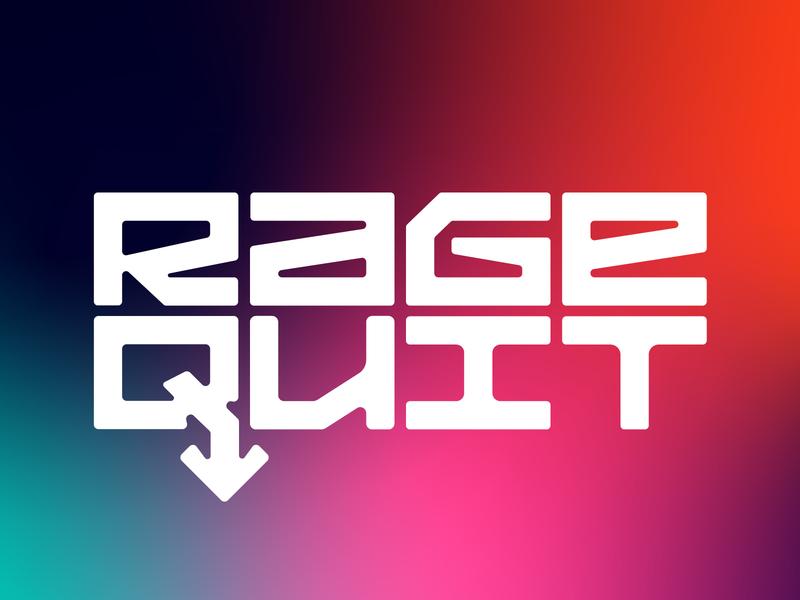Rage Quit / Identity branding design brand identity brand design brandbook brand style identity branding identity design rage game ui typography logo minimal branding design identity