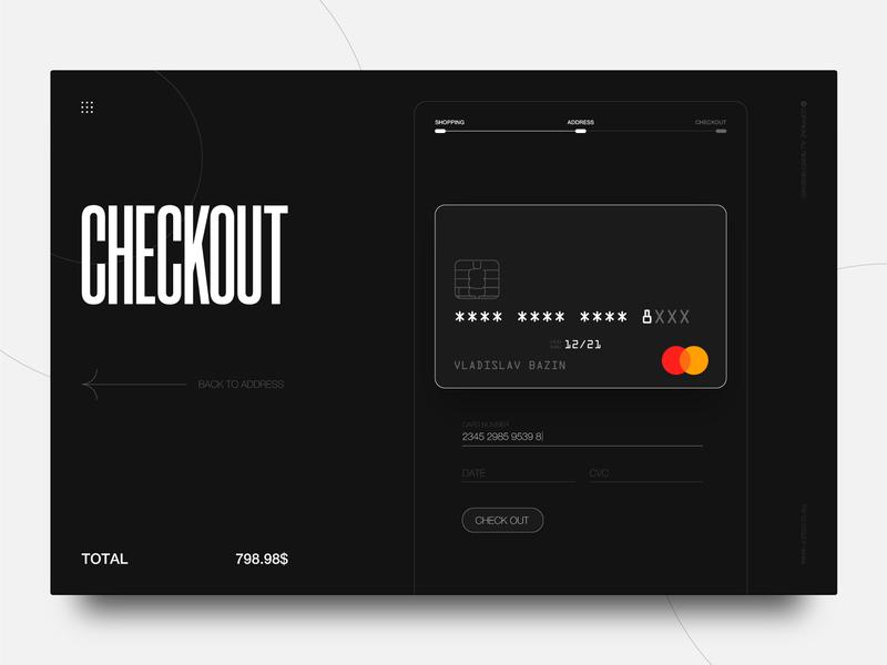 Checkout Form daily ui dailyui card credit card checkout credit cards credit card creditcard credit check out checkout check website web design ux web ui design minimal