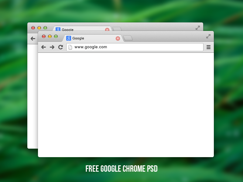 Free Google chrome PSD google chrome web browser free download psd web mockup shape