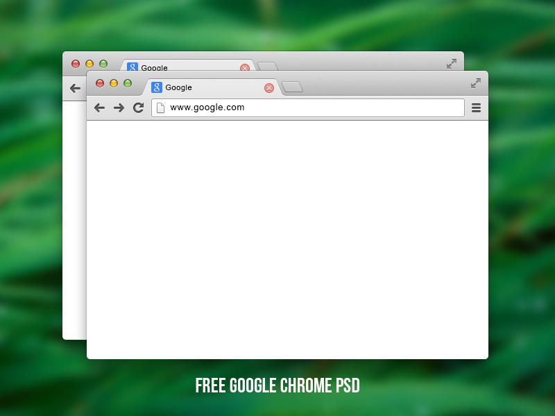 Free Google chrome PSD google chrome web browser free download psd web mockup shape