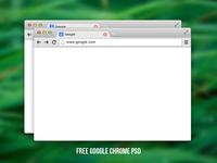 Free Google chrome PSD