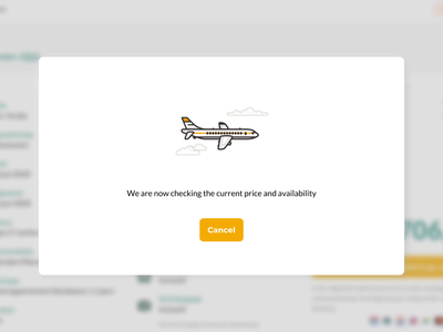 Vakanties.nl animation preloader animation clouds line art checking loading airplane