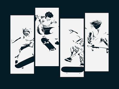 skate.incentro.com monochrome skateboarding