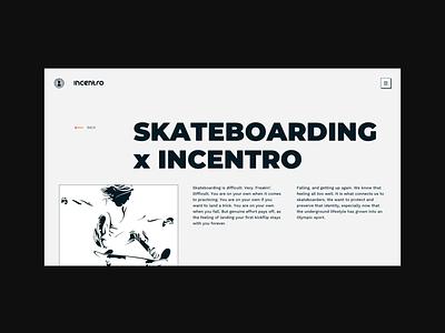 Incentro skateboarding mockup portraits monochrome product card skateboarding illustration