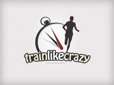 Train Like Crazy camping camp time running training vector branding illustration logo