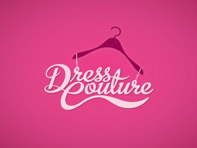 Dress Couture wedding robe gown textile fabric clothes fashion dress branding design logo