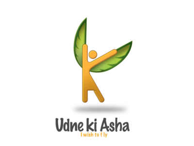 Udne Ki Asha care child wish fly mentorship mentor ngo branding design logo