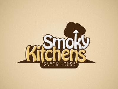 Smoky Kitchens kitchen smoky smoke snack restaurant design logo