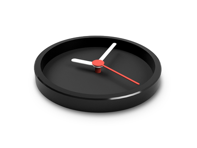 Its time 3d watch clock time concept illustration