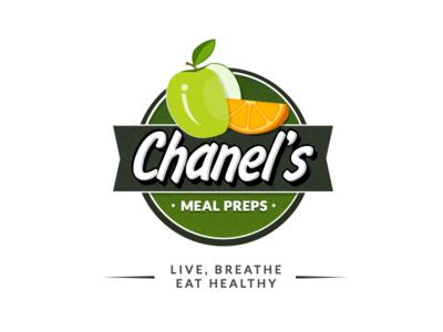 Chanel's fruits colorful vibrant health meal snack restaurant design branding logo