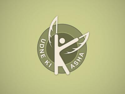 Udne Ki Asha (I wish to fly) care child wish fly mentorship mentor ngo branding design logo
