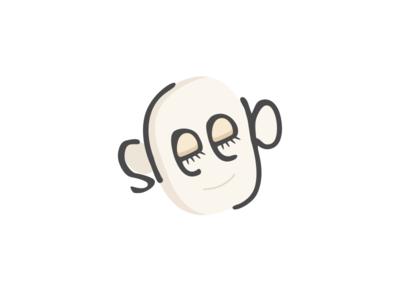 Sleep sleep face human concept illustration