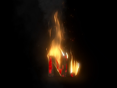 Namics. On Fire. vfx realistic smoke flame hot coal wood burn sound loop effect sparks fire animation logo design after affects
