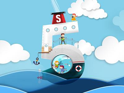 Stena Line Szwecja z Klasą 5 illustration prom klasą z szwecja line stena