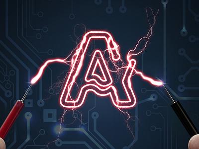 Ampershop shop electric howinnga branding logo ampershop