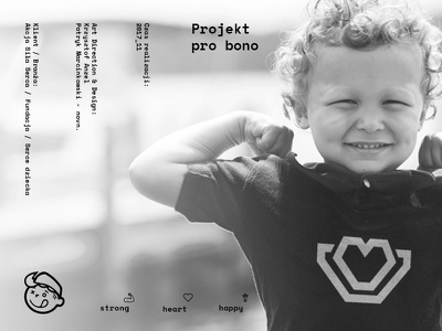 Siła Serca sopot novn howinnga logo branding happy heart strong siła serca