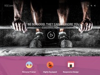 RSEdimo! - special Joomla template for GYM