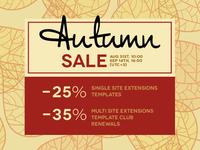 Autumn Sale 2018 - Joomla