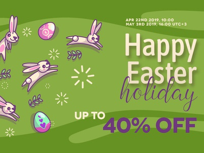 Happy Easter Sale joomla promotions joomla extensions discounts joomla designs joomla template