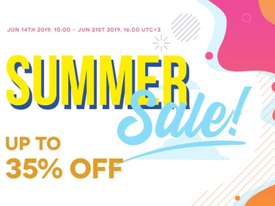 SUMMER SALE - up to 35% OFF