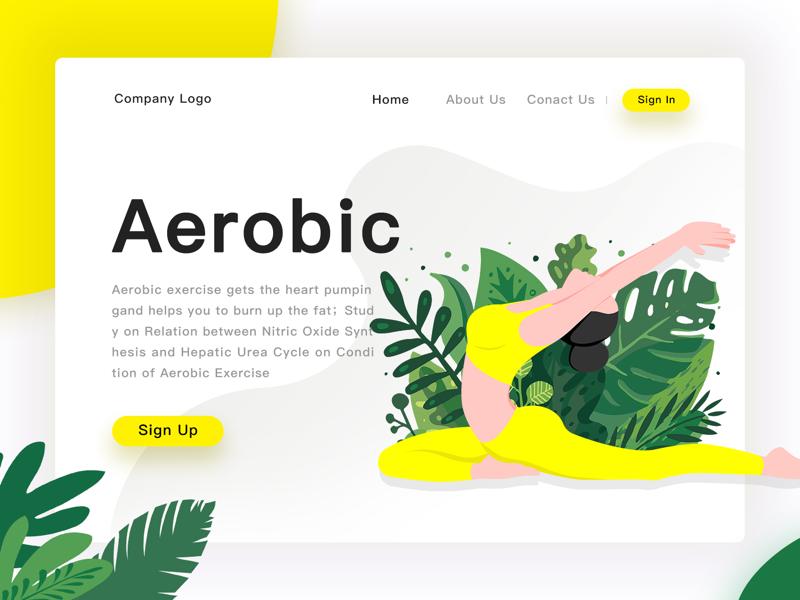 Aerobic illustrations ui