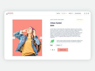 myJacket - Product Page icon minimal website webdesign web adobexd ux ui design