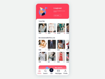 Marketplace - Home Page icon ecommerce business ecommerce ecommerce design ecommerce app undraw illustration minimal app adobexd ux ui design