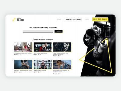 Find My Coach - Website icon logo website webdesign web minimal adobexd ux ui design