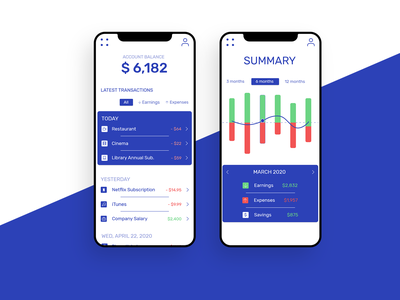 Bank Application webdesign app minimal icon adobexd ux ui design