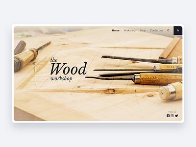 The Wood Workshop typography web website webdesign minimal icon adobexd ux ui design