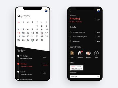 Daily Task Schedule App webdesign app design app minimal icon adobexd ux ui design