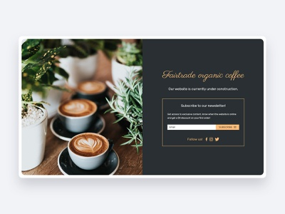 Fairtrade Organic Coffee icon ecommerce business website web webdesign adobexd ux ui design