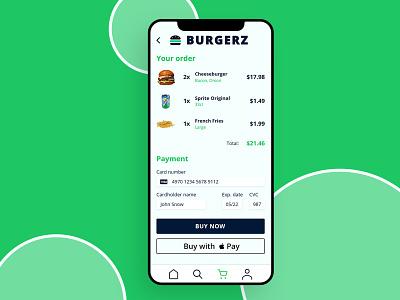 Burgerz App logo app design ecommerce app app minimal icon adobexd ux ui design