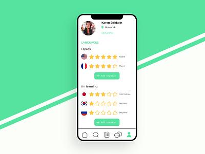 Language application - Settings branding vector app design app minimal icon adobexd ux ui design