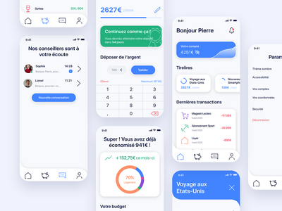 PiggyBank branding banking app bank app figmadesign figma app design app minimal icon ux ui design