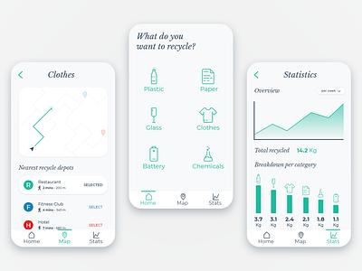 Smart Recycle icon design ux ui app