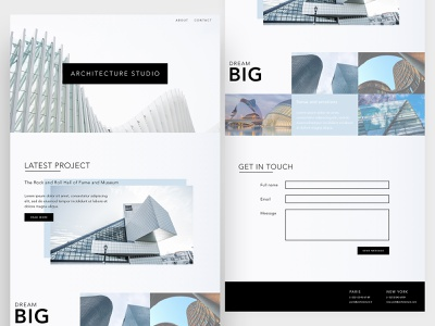Architecture Studio adobexd webdesign web ux ui design website