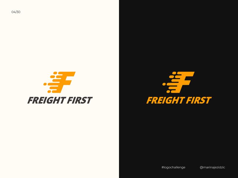The 30 Day Logo Challenge 4 - Freight First typography black white logotype identity branding illustrator logo design