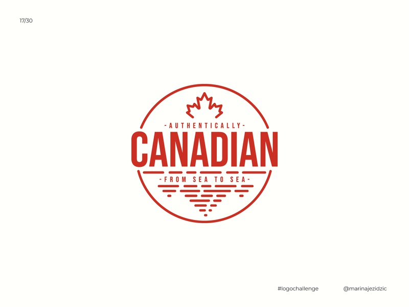 The 30 Day Logo Challenge 17 - Authentically Canadian logodesignchallenge logodesigner logodesign logocore logochallenge logotype logo design