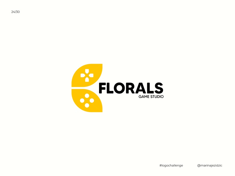 The 30 Day Logo Challenge 24 - FLORALS logocore logotype identity branding gaminglogo gamestudio game florals logochallenge logodesigns logodesignersclub