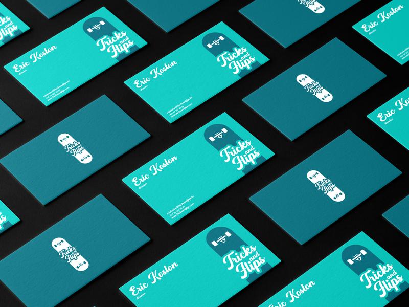 Tricks&Flips Branding mockup design businesscard mark logomark branding design visual identity logodesign branding and identity branding