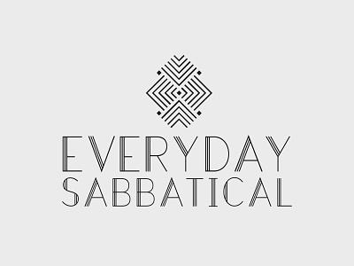 Everyday Sabbatical – Logo Concept B typography logo design art deco fashion concept logo