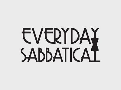 Everyday Sabbatical – Logo Concept C typography concept logo logo fashion concept art deco