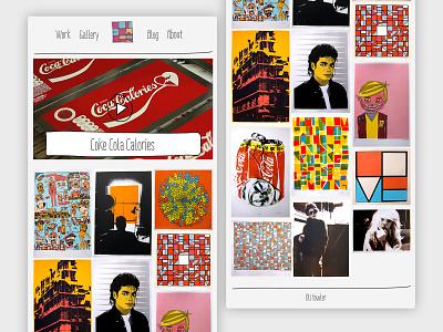 Oil Fowler – Concept A web design branding typography website design art website builder website concept