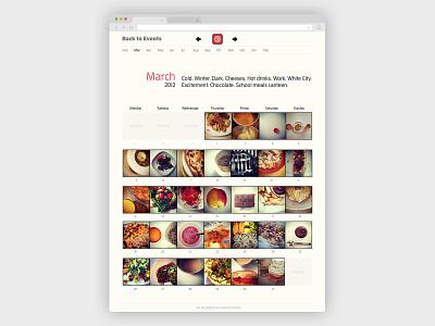 #wiat month view web design website design food