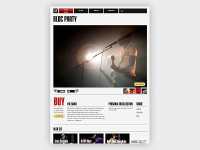 Shop page web typography photography photogaphy design website design