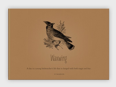 Waxwing Concept B – Book Cover typography web design website design