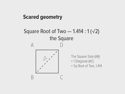 Scared geometry – Square Root of Two scared geometry design